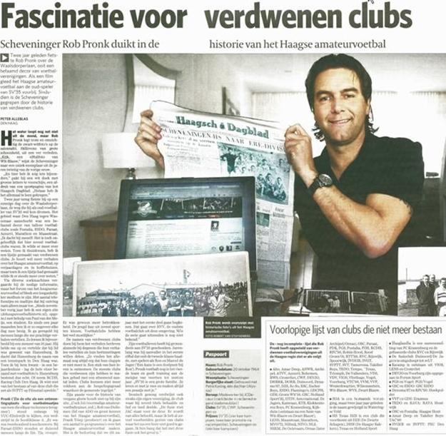 Krantenartikel in AD/Haagse Courant