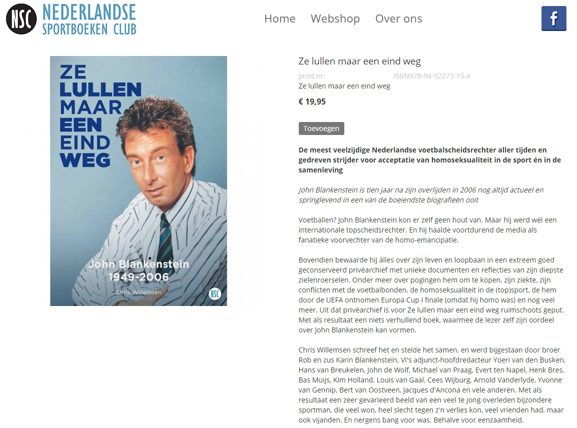 Boek John Blankestein